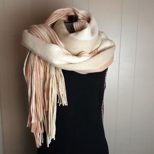 Free people fringed blush blanket scarf